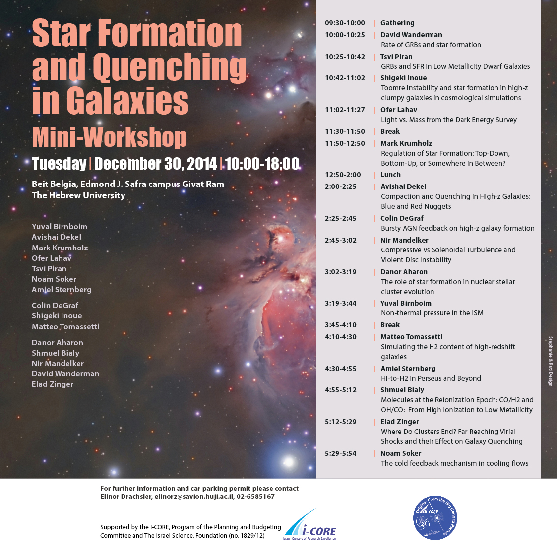 Star Formation and Quenching in Galaxies Mini-Workshop poster